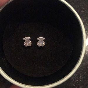 Tous 9.25 Silver Earrings Teddy Bear small